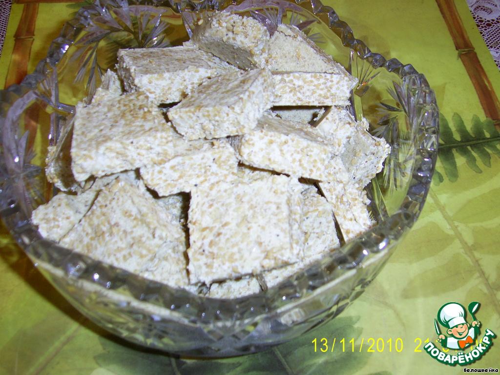 Конфеты из кунжута и сухого молока рецепт с пошагово