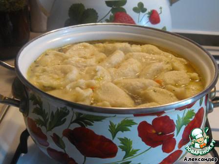 суп с чесночными галушками рецепт с фото пошагово