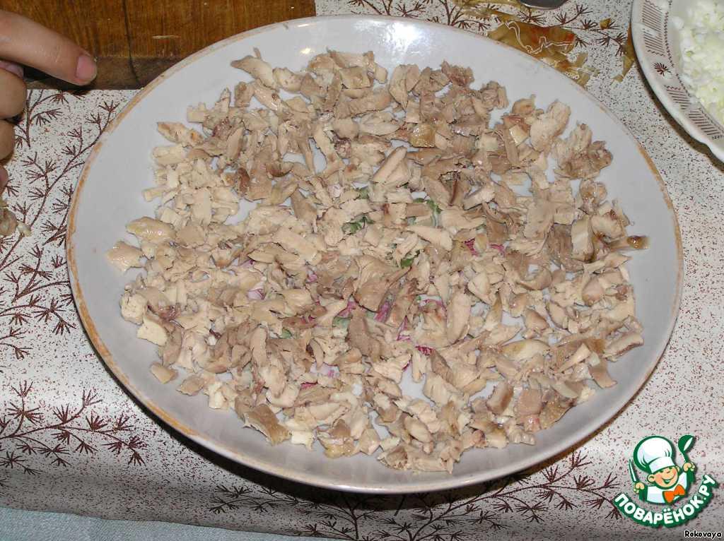 Салат подсолнух очень вкусный пошаговый рецепт с фото