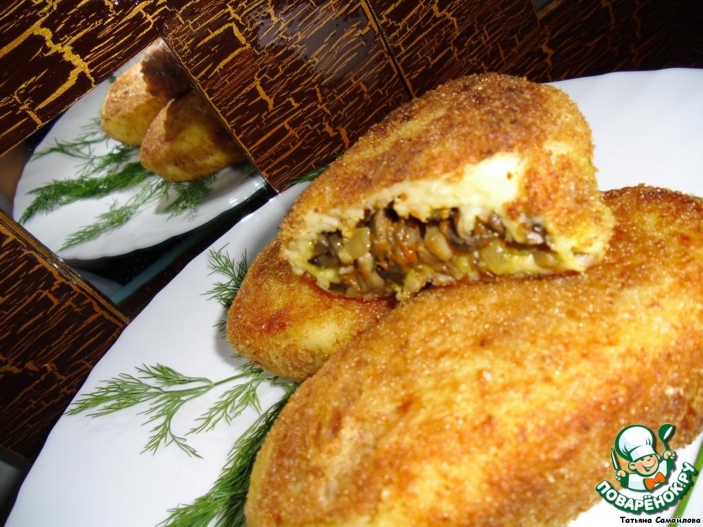 Рецепт зразы картофельные с грибами пошаговый рецепт с в духовке