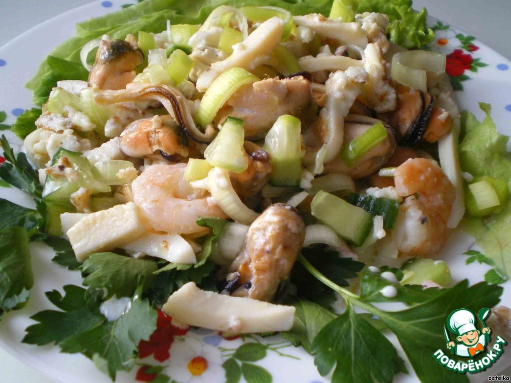 салат морской коктейль  рецепт