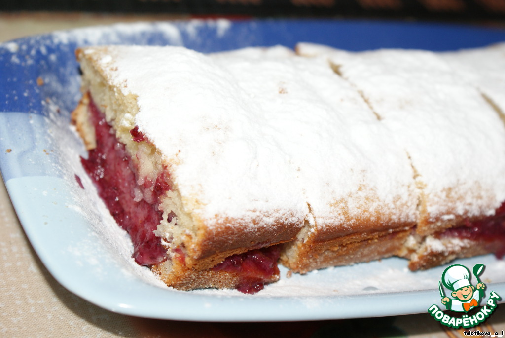 Пирог с клюквой простой рецепт с фото