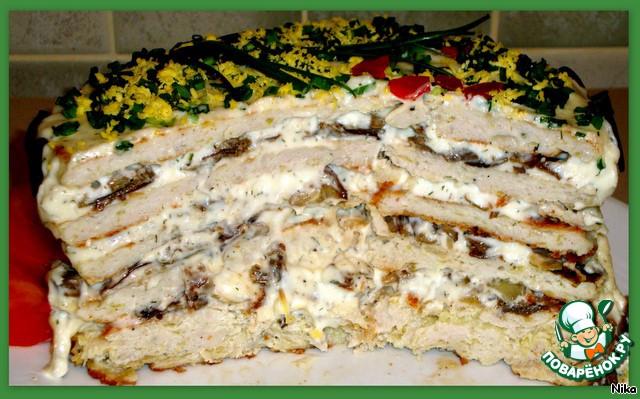 Торт куриный закусочный с фото