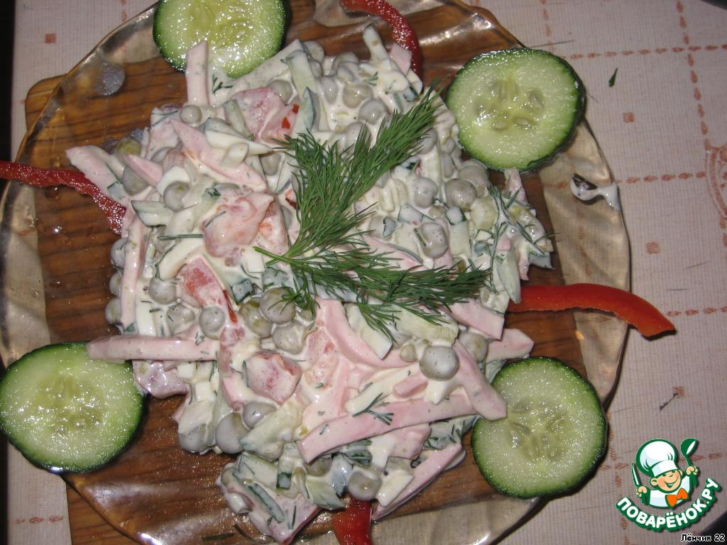 рецепты салатов с помидорами и огурцами с креветками