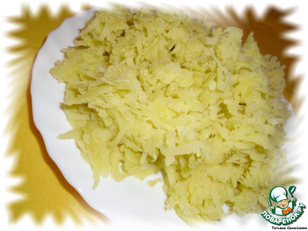 Салат с креветками и крабовыми палочками