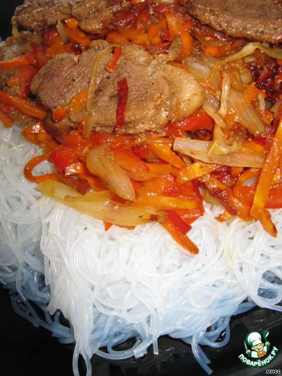 Часть 1. Салат из фунчозы с мясом: салат морской коктейль рецепты...