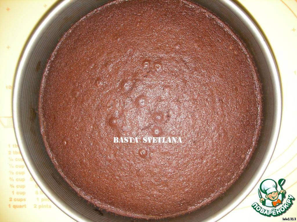 Простой шоколадного торта пошагово