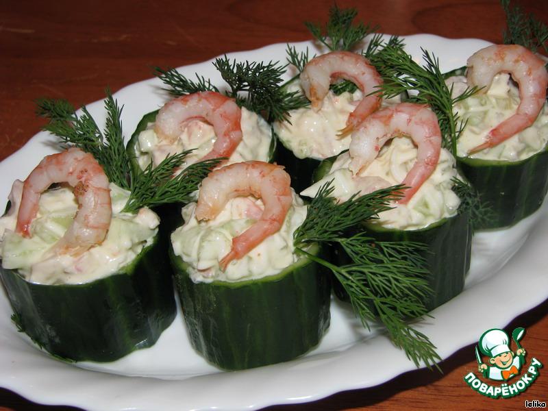 Салаты с креветками на праздничный стол рецепты 194