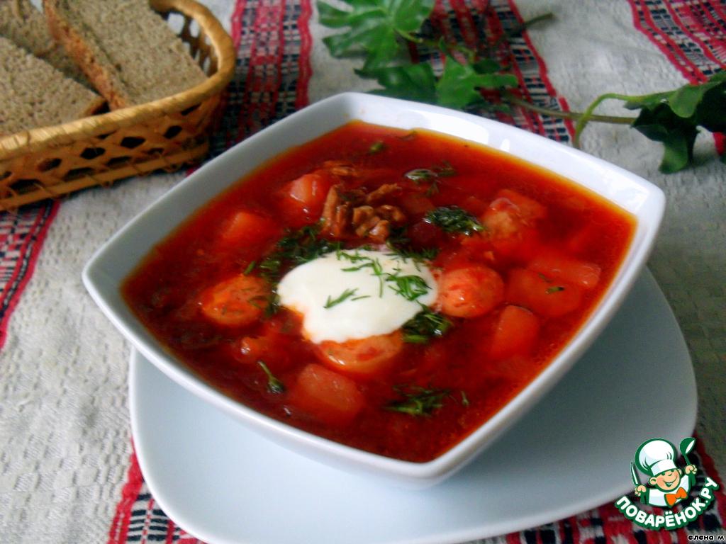 Белорусский борщ рецепт классический с фото