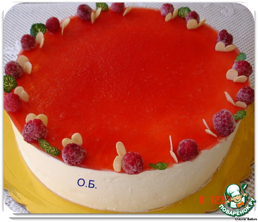 Торт с фруктами, желе и суфле фоторецепт