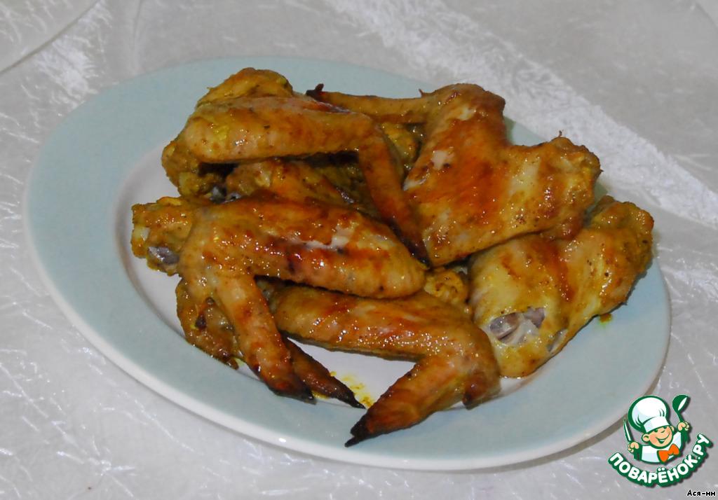 рецепт острых куриных к пиву