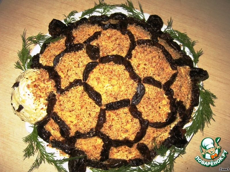 Рецепт салата черепаха с пошагово