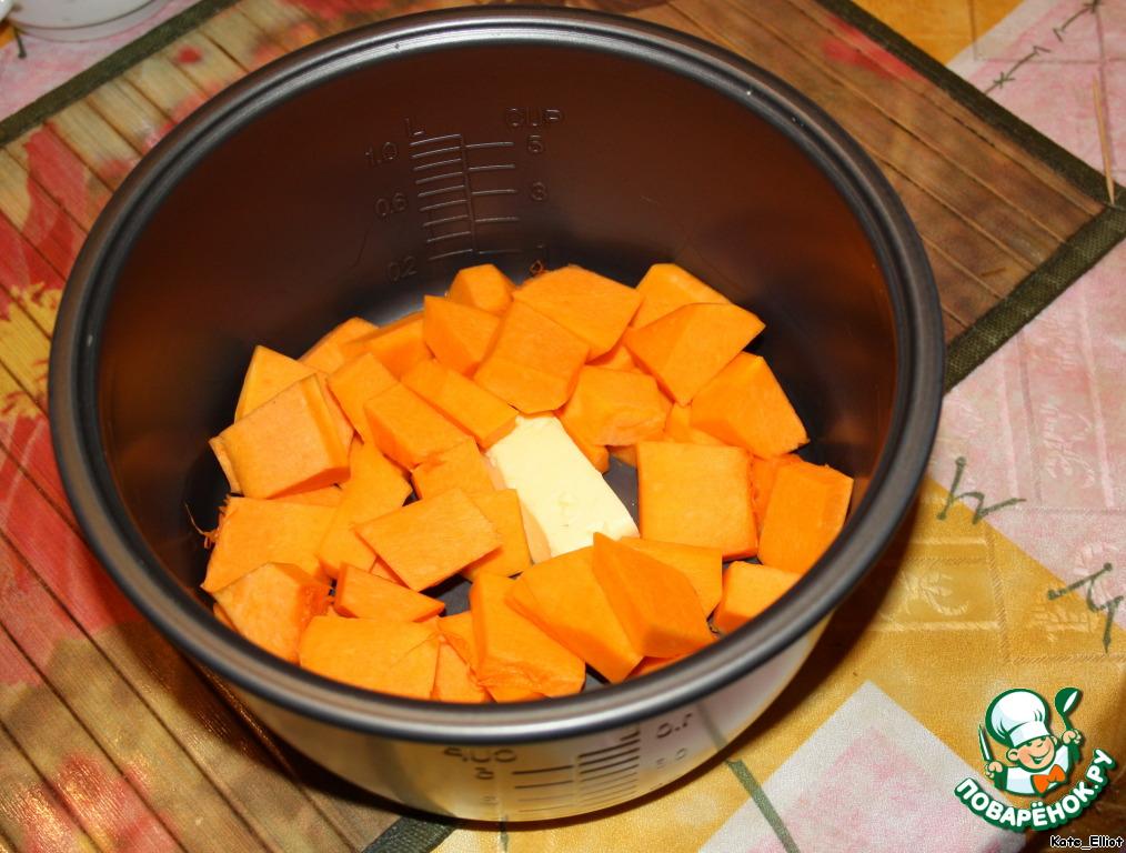 Приготовление тыквенной каши в мультиварке