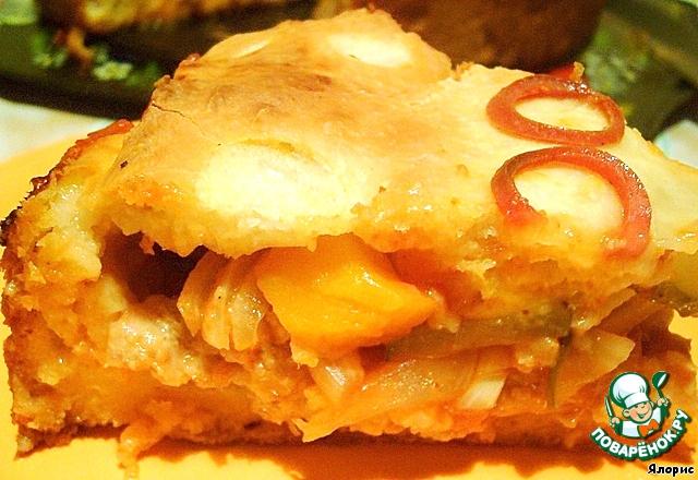 Рецепты пирог с тыквой и мясом рецепт с