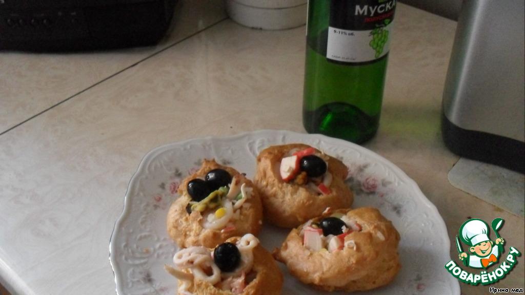 Эклеры на закуску рецепт пошагово