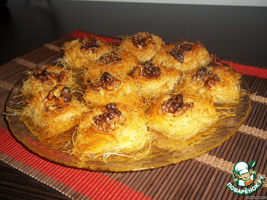 Арабские сладости птичье гнездо ощ
