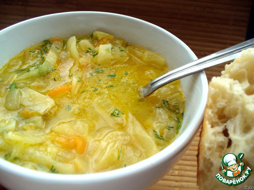 Суп из моркови лука капусты и мяса