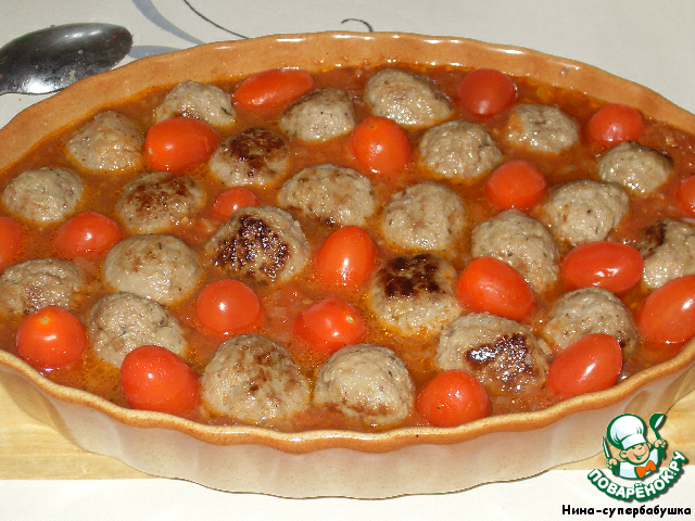 Куриные фрикадельки в томатном соусе  пошаговый рецепт с