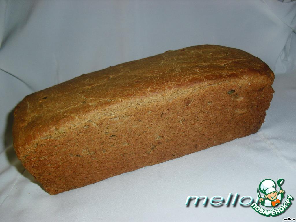 Ржано пшеничный хлеб в духовке на дрожжах