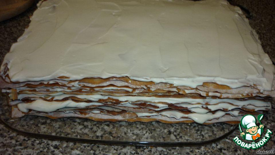 Торт из слоеного пошаговый рецепт