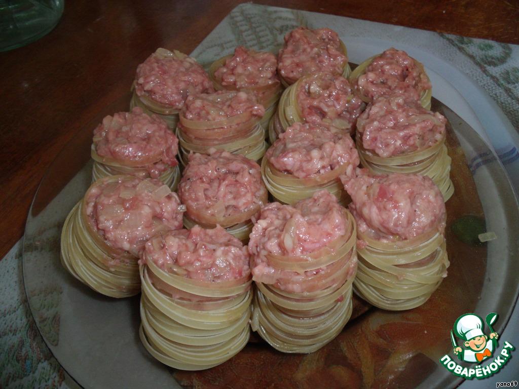 салангани с фаршем рецепт с фото