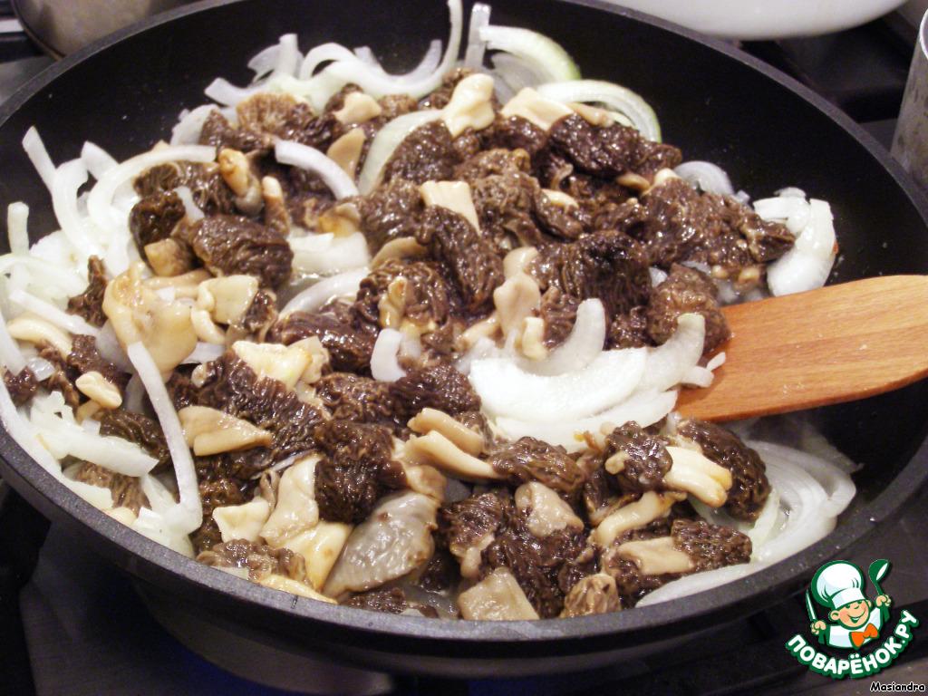 рецепт на второе блюдо из грибов