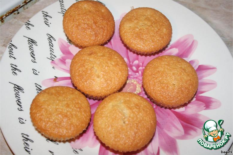 Кексы с начинкой рецепт пошагово