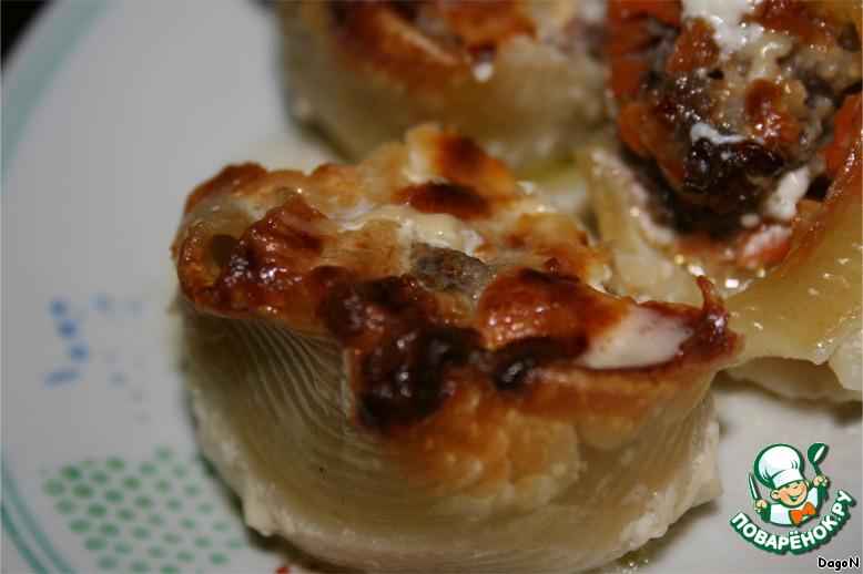 Рецепт макароны фаршированные в сметанном соусе