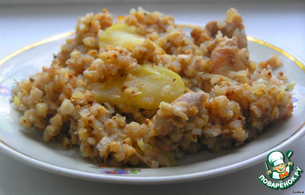 Каша гречневая с курицей рецепт с пошагово