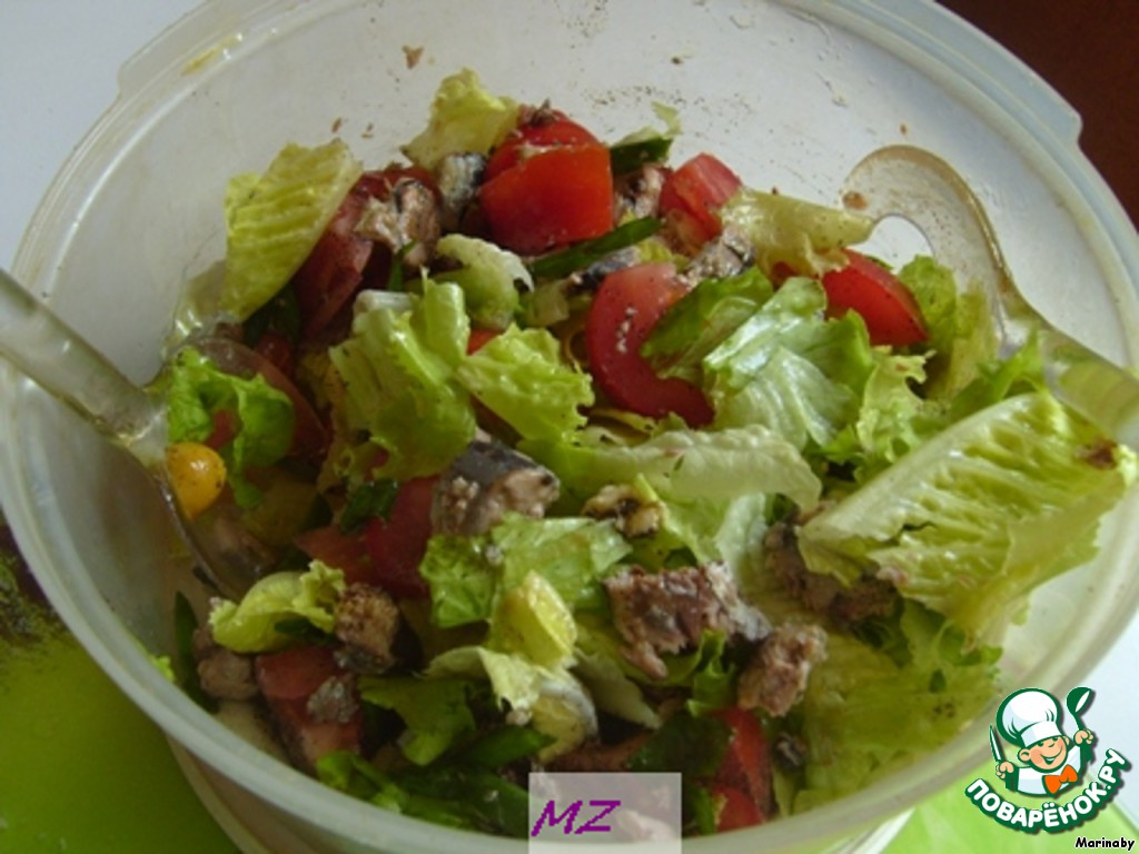 Салат с сайрой рецепт с фото