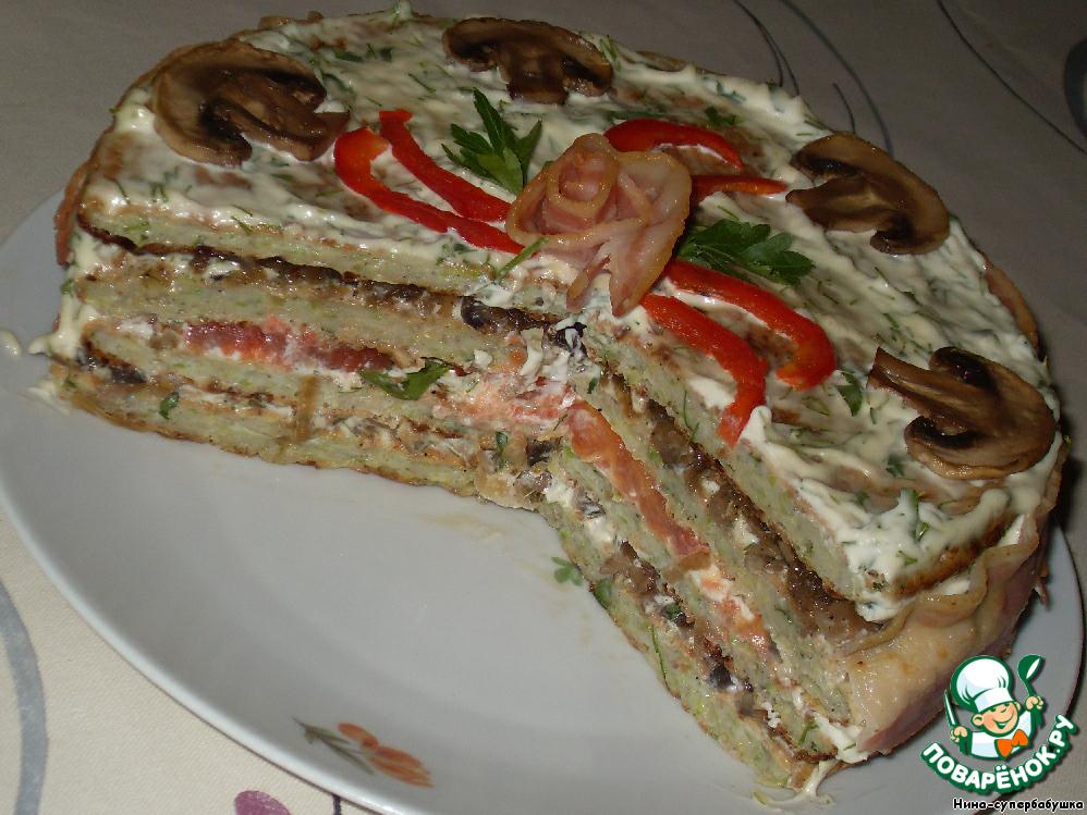 рецепт кабачкового торта с фаршем