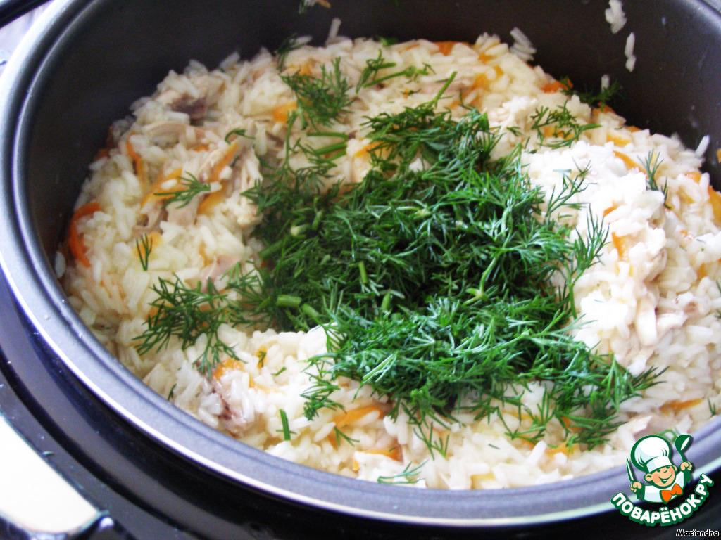 мультиварке курицей в с варить рис
