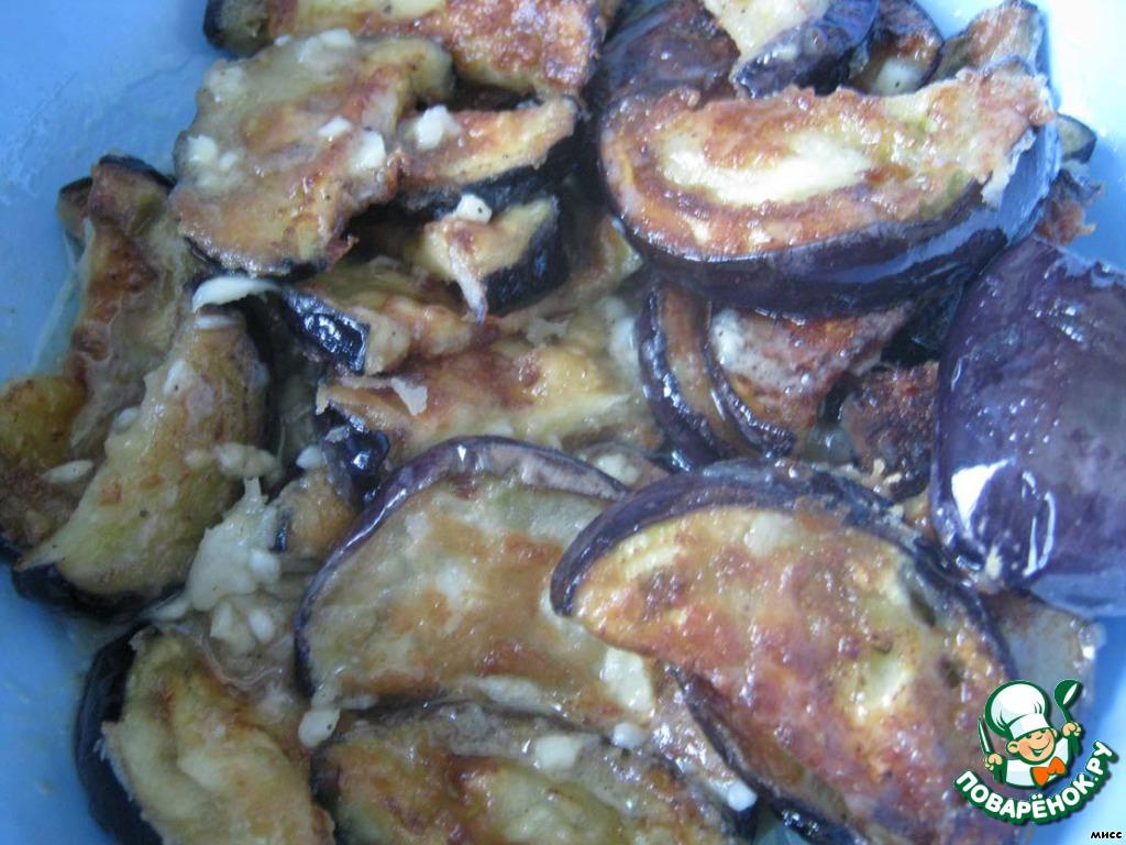 Салат с баклажанами, помидорами и луком - пошаговый рецепт ...