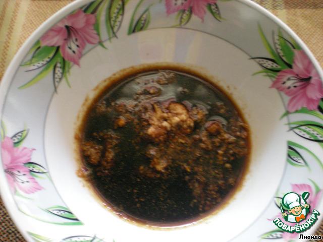 Соевый соус блюда с ним