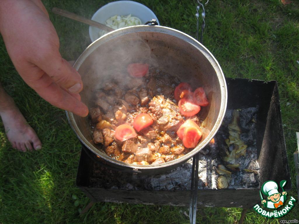 Плов на костре из свинины рецепт