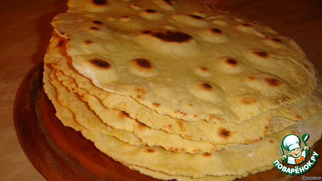 Лепёшки на сковороде без масла рецепт с фото
