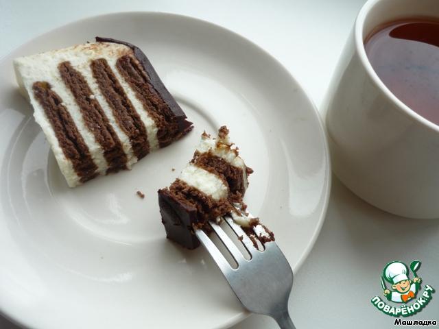 Торт полосатик без выпечки рецепт