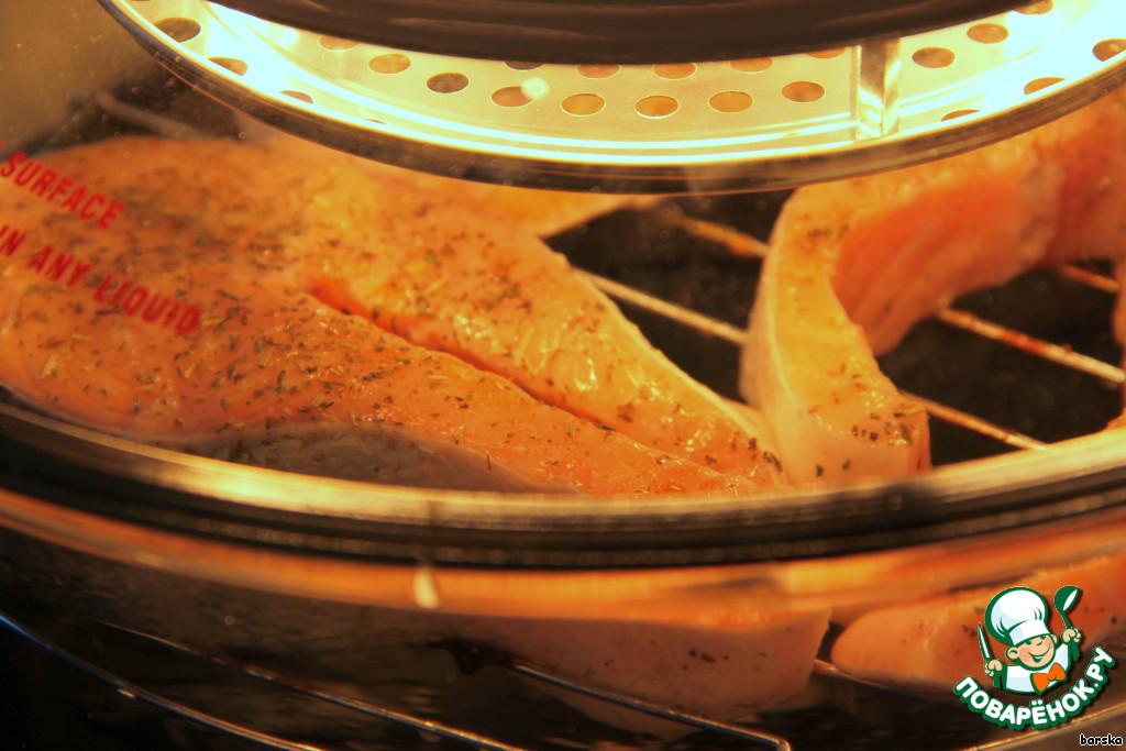 как приготовить стейк из семги в мультиварке dmc-935
