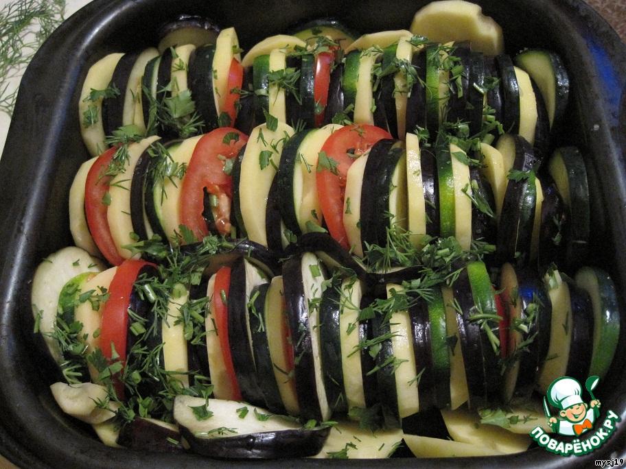 Кабачки баклажаны помидоры мясо