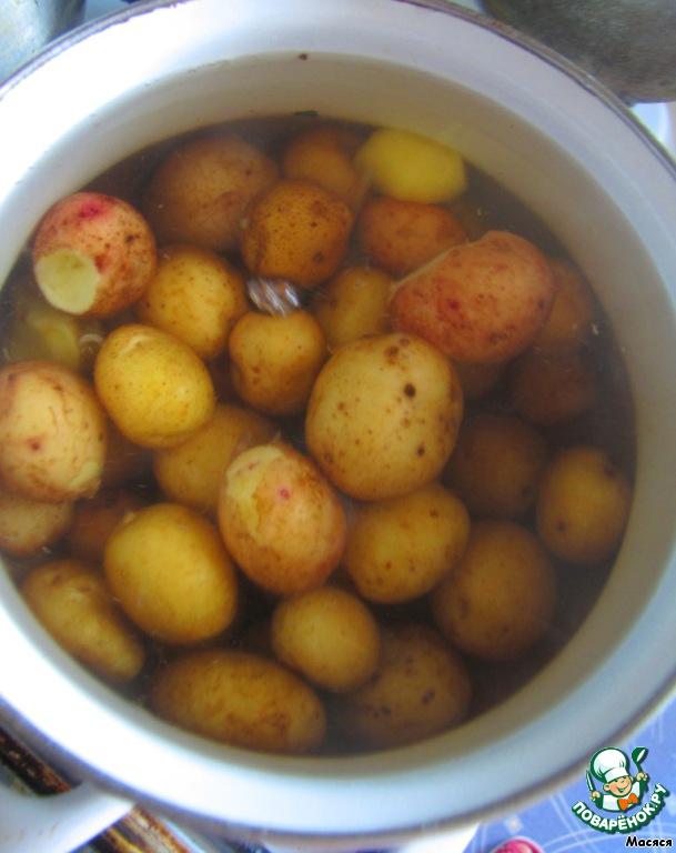 золотистая духовке рецепт в с фото картошка