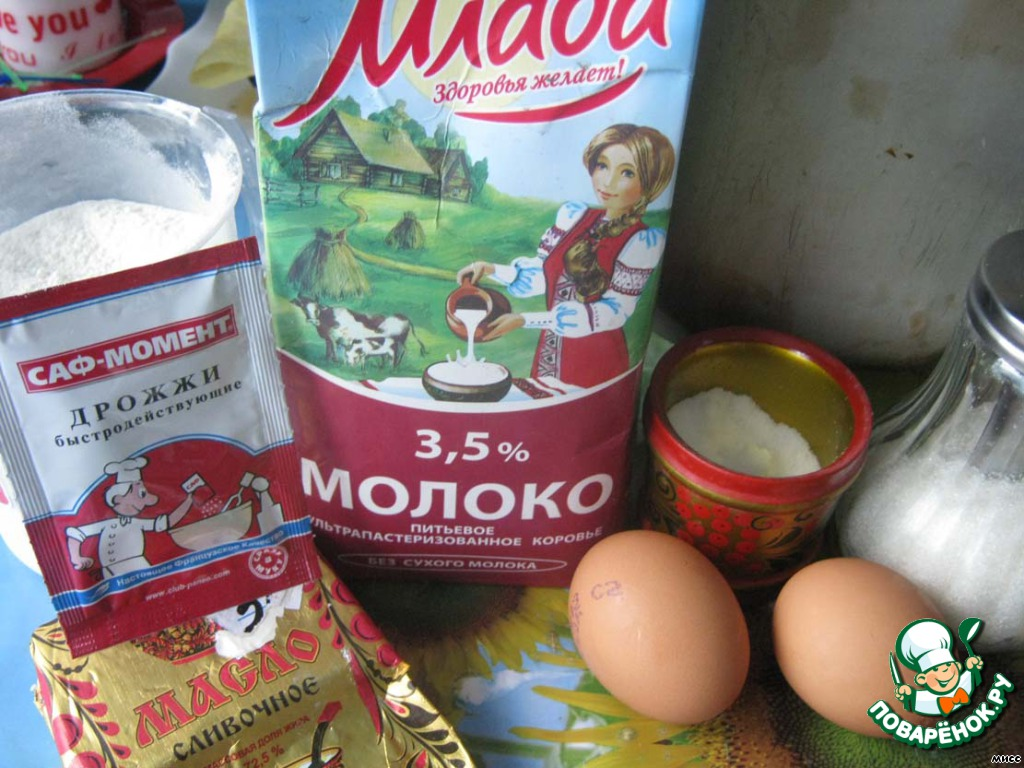 Рецепт кексов яйцо мука молоко