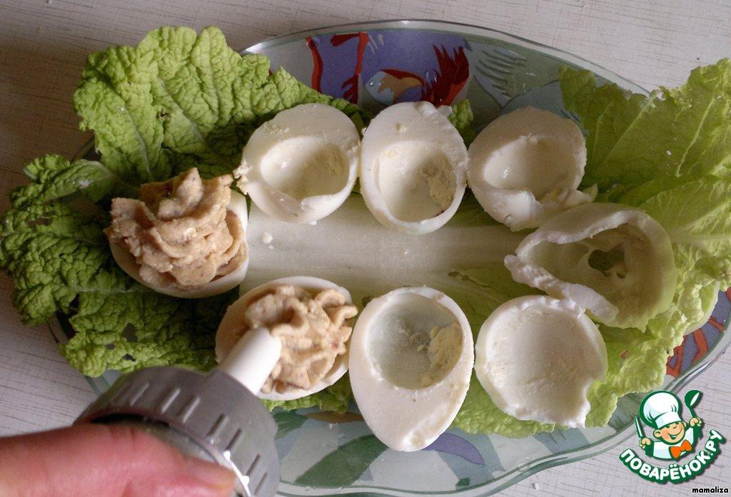 Фаршированные яйца с паштетом рецепты с фото