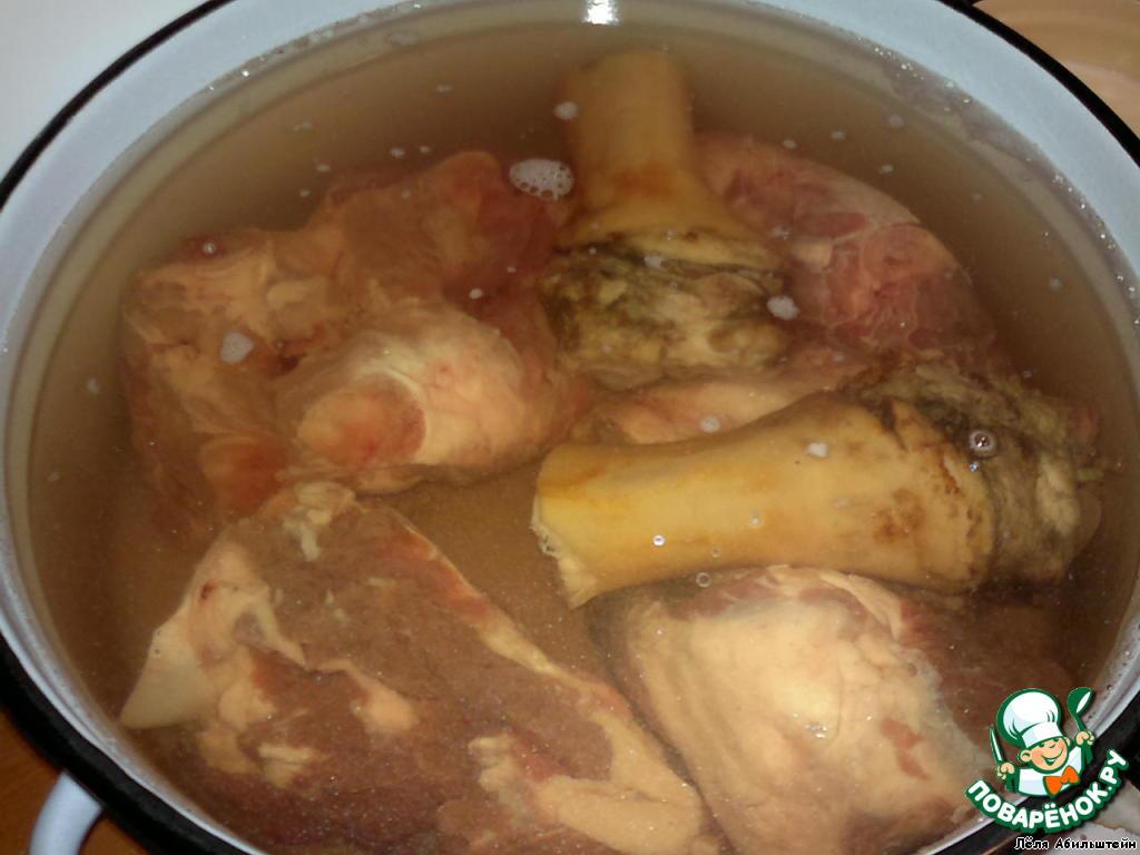 Холодец из говяжьих ног рецепт пошагово