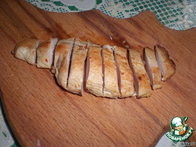 Блюда из порезанной свинины