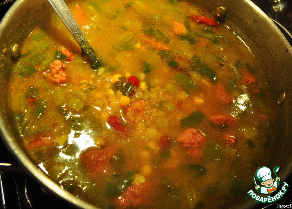 Суп гороховый с фасолью