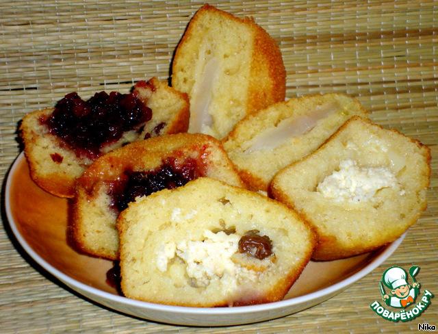 Кексы в формочках с начинкой рецепты