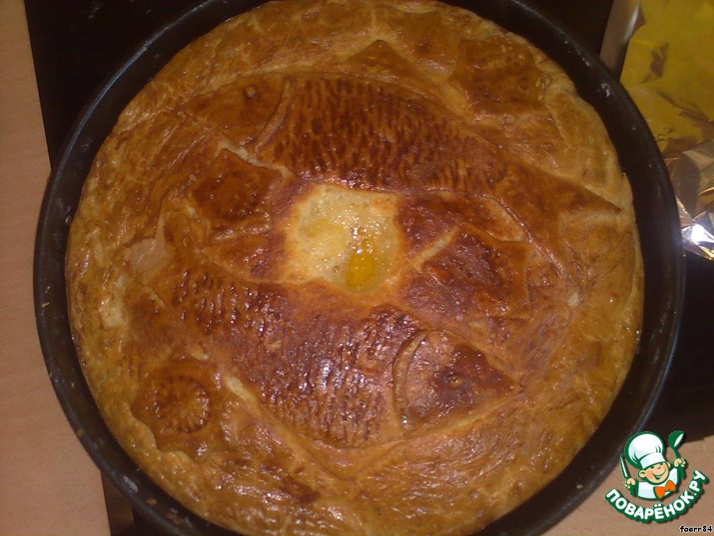 Рыбный пирог с песочным тестом рецепт