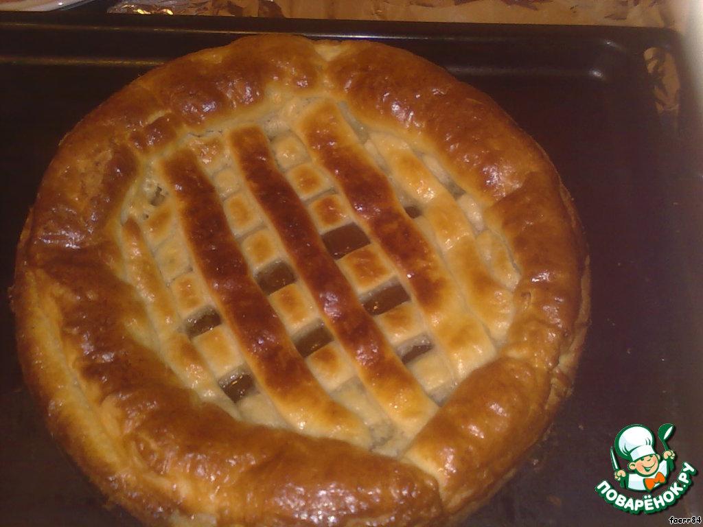 Дрожжевой пирог с повидлом рецепт