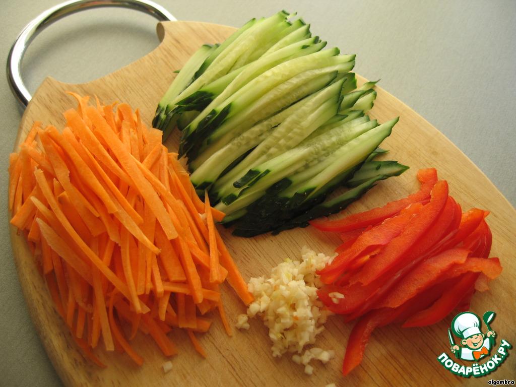 рецепты с фунчоза с морковью по-корейски