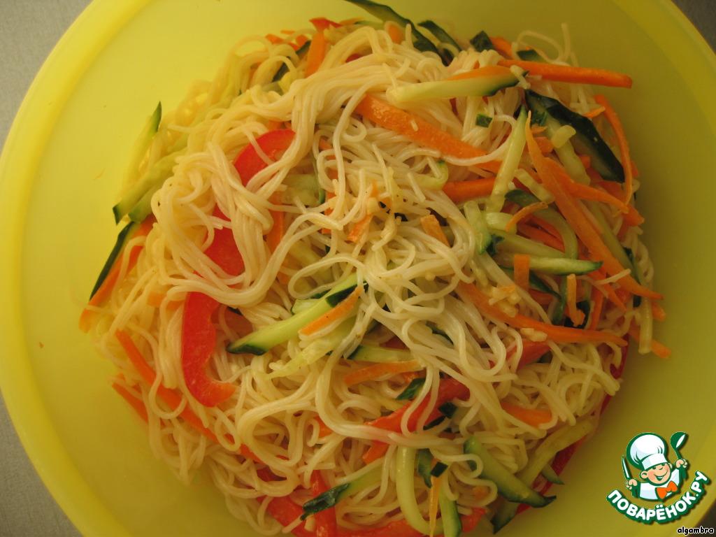 Салат фунчоза без овощей